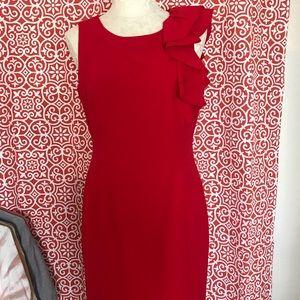 Calvin Klein red dress 10